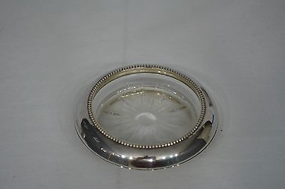 EUC! Vintage Frank M. Whiting Sterling Silver & Glass Beaded Coaster.8 Available