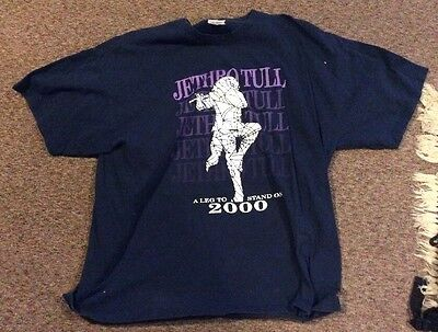 Jethro Tull A Leg To Stand On Concert Tour T-Shirt 2000 Size Adult 2Xl