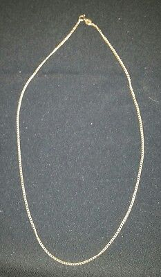 9ct gold curb necklace 47cms