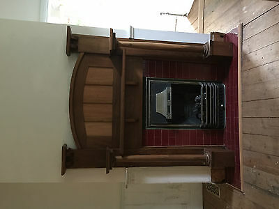 Vintage Gas fireplace and mantel piece