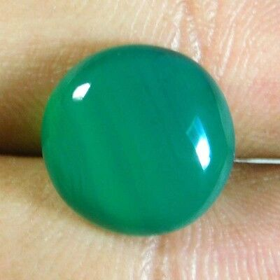6.6cts Magnificent A+ 100% Natural Green Onyx Round 13x13x4 Loose Gemstone
