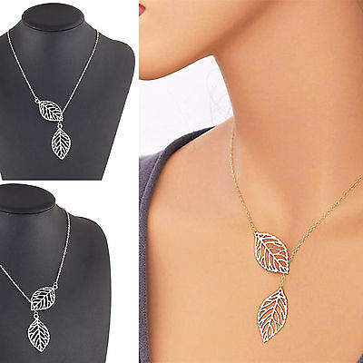 Charm Jewelry Gold Plated Leaf Long Sweater Chain Necklace Choker Pendant Women
