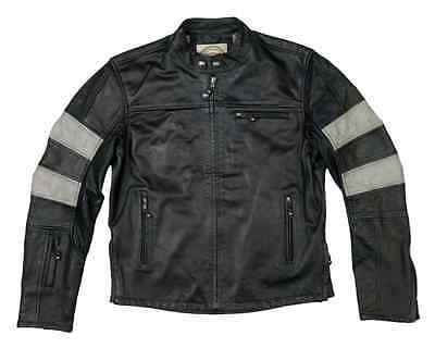 Roland Sands RSD Ronin as new leather motorcycle jacket black smoke cafe racer