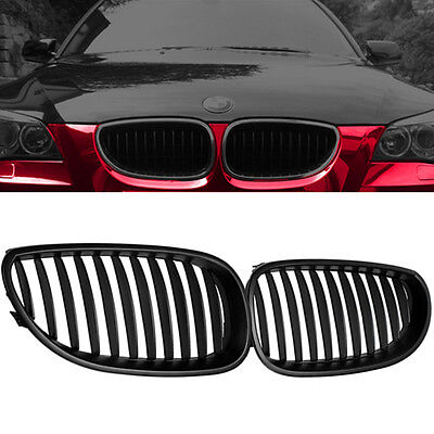 Matte Black Front Hood Kidney Grille Grill For BMW E60 E61 5 Series M5 03-10 USA