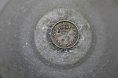 Uk Gb 3 Pence 1887 Silver A56 #633