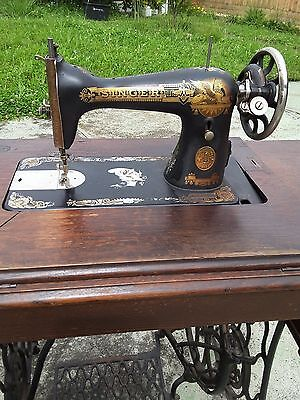 Antique Singer 5 Drawer Treadle Sewing Machine 1916 Condition