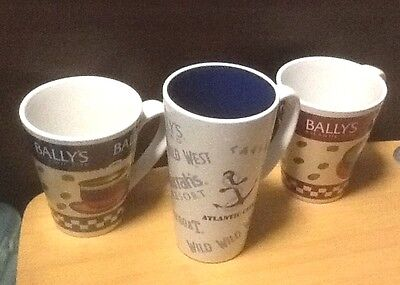 Set of 2 Bally's and 1 Atlantic City Casino Cups Mugs