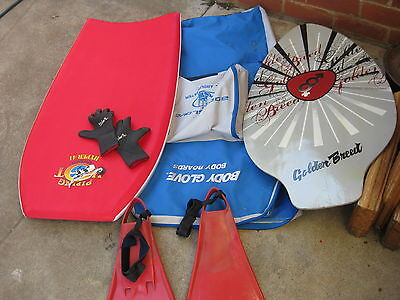 Body Board, Body board bag, Glove and other