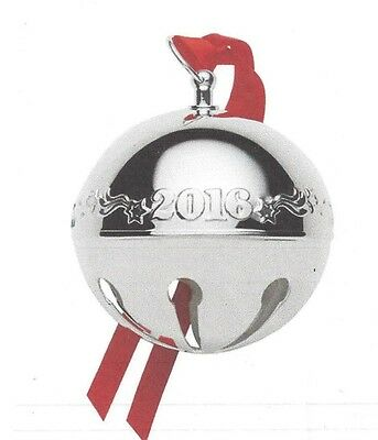 Wallace Silversmiths 2016 Silver-Plated Sleigh Bell Christmas Ornament