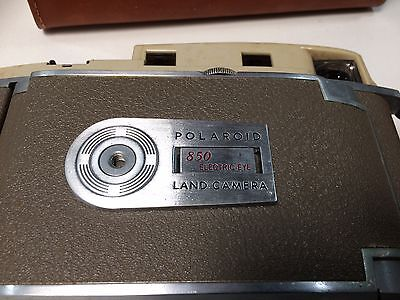 Vintage Polaroid 850 Electric Eye Land Camera with Accessories & Case