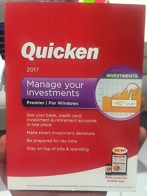Quicken 2017 Premier for PC Windows Manage Your Investments