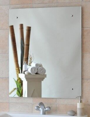 Polished Edge Screw to Wall Mirror - 600x750mm