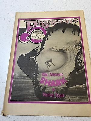 Breakaway Surfing Magazine Very Rare August 1975 Tracks