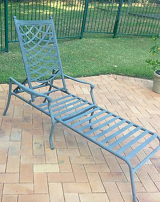 2 X French Provincial Ornate Outdoor Sunlounge Pool Deck Chairs.