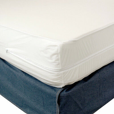 Non Allergenic Full Size Mattress Cover Zippered Dust Mites Bed Bug Protector