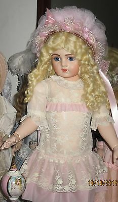 """Emily Hart Antique Repro Titianna Bru 14 Doll Exquisite Costume Seeley Body 29"""""""