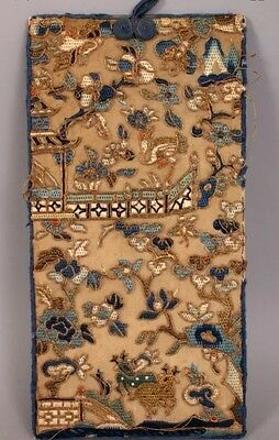 Antique Chinese Silk Embroidered Panel