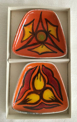 Poole Delphis Boxed Set of Two Pin Dishes