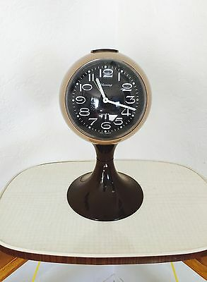 Vintage Pedestal Space Age TULIP Base Mid Century BLESSING Germany ALARM CLOCK