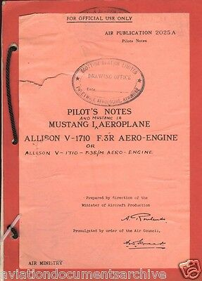 North American P-51 Mustang Manuals in DVD- Free Shipping