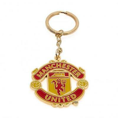 Manchester United FC Official Metal Crest Keyring Brand New