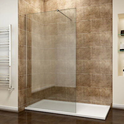 Wet Room Shower Screen Enclosure Walk In Cubicle 8mm Easy Clean Glass Panel