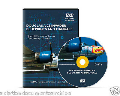 Douglas A-26 Invader Blueprints CD/DVD- Free Shipping