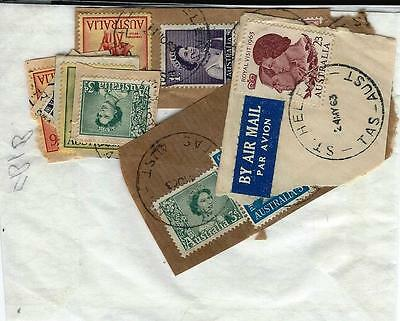 A selction of Austalian stamps some with St Helena postmarks