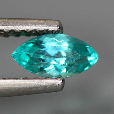 0.47 Cts_World Class Very Rare Top Color Gem_100 % Natural Blue Apatite_Brazil