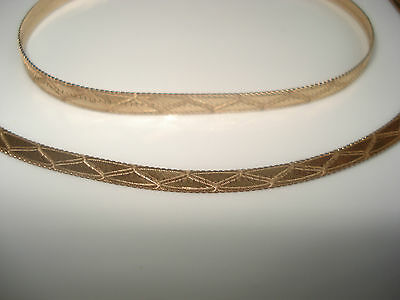 Beautiful 9 ct Gold Flat Link Necklace and Bracelet Set - Made in Italy