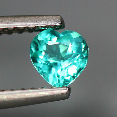 0.40 Cts_World Class Very Rare Top Color Gem_100 % Natural Blue Apatite_Brazil