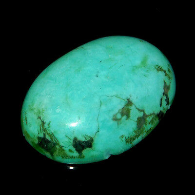 14Cts 100% Natural  22X16Mm Tibetan Turquoise Oval Cabochon Top Gemstone
