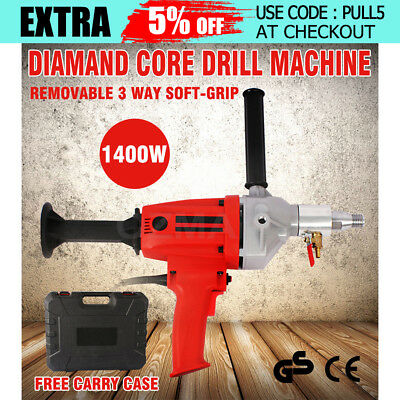 1400W Diamond Core Drill Hand-Held Concrete Machine Wet Drilling Press Red