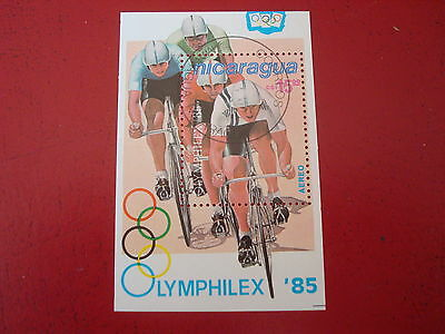 Nicaragua - 1985 Cycling -  Minisheet - Unmounted Used - Ex. Condition