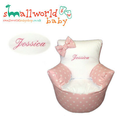 Personalised Pink Star Toddler Bean Bag Chair (NEXT DAY DISPATCH)