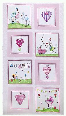 A Bundle Of Pink Quilt Panel * Baby Arrival * In Stock * New * Free Post *