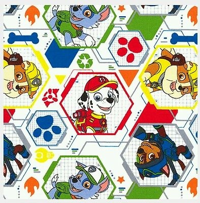 Paw Patrol Mission Pawsible Fabric * New * In Stock * Free Post * White *