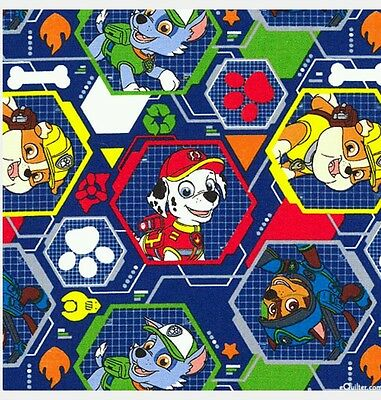 Paw Patrol Mission Pawsible Fabric * New * In Stock * Free Post * Blue  *