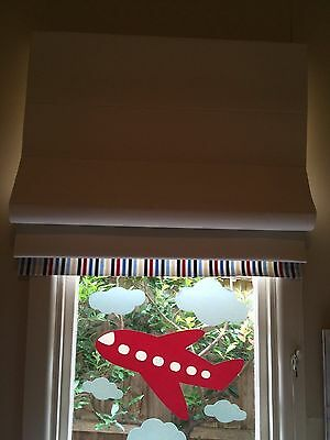 Custom Made Roman Blinds With Blockout and Trim