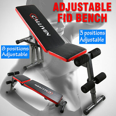 NEW Adjustable FID Bench Flat Decline Incline Home Gym Weight Exercise Fitness