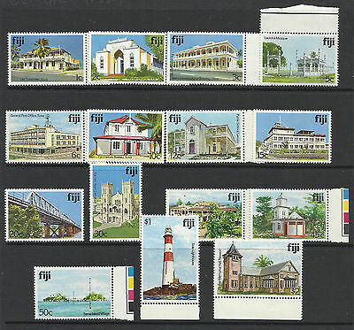 Fiji - Architecture - part set of 15 stamps - MNH