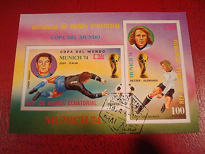 Equatorial Guinea - 1974 World Cup - Minisheet - Unmounted Used - Ex. Condition