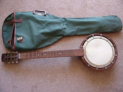 6 String Zither Banjo and case