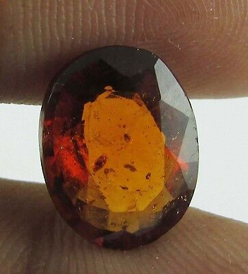 10.96 Ct Ceylon Natural Oval Cut Loose Gomed/hessonite Garnet Faceted Stone 2Pc