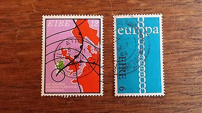 LOT Collection 2 Timbres IRLANDE - EUROPE DIVERS