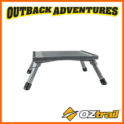 OZtrail FOLDING STEP -  PORTABLE ALUMINIUM FRAME - 220kg WEIGHT RATED