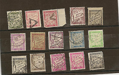 lot timbres FRANCE taxe DUVAL
