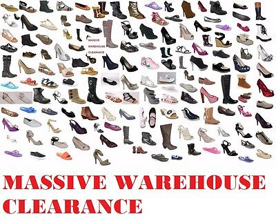 WHOLESALE JOBLOT 100 pairs of shoes boots sandals all BRAND NEW