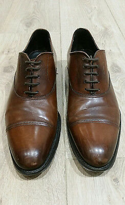 Mens - Russell & Bromley - Brown Shoes - Size 7 Eu 41 - Rrp £235 - Redwood - Box
