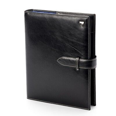 Aspinal of London Executive Personal Organiser Smooth Black